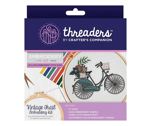Crafter's Companion Threaders Vintage Trail Embroidery Kit