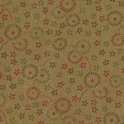 Cotton Blossoms Light Brown Blossoms Bonnie and Camille 55004-12 Moda Fabrics
