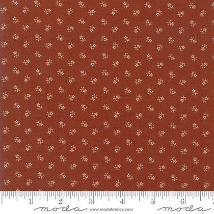 Reflections Rust with Tan Flowers Jo Morton Moda Fabrics 38014-18