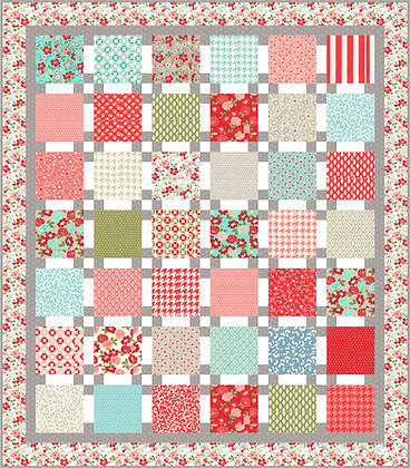 Fun Flowers Quilt PDF Pattern