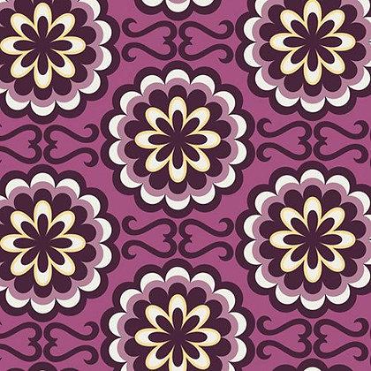 Bespoken Fancy Button Purple BE-6103
