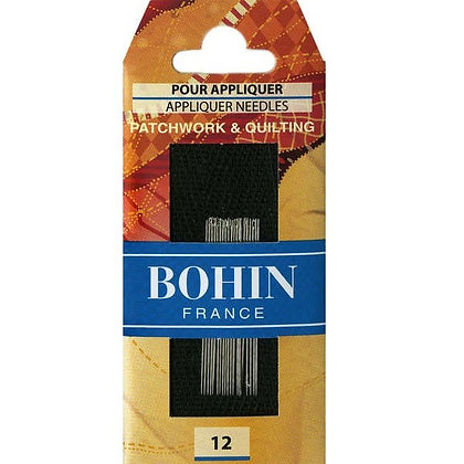 bohin 12 applique needles for patchwork and quilting