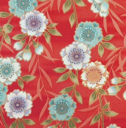 Japanese Floral Garden 9164-red kennard and kennard