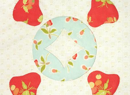 Raspberry Tea Quilt Along Bell Flower Applique Block