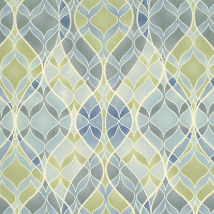 Boutique Blue Green Geometric Chez Moi 16044-23 Moda Fabrics