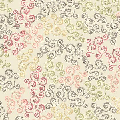 Chic Blooms Swirls Raspberry Pat Bravo CB-707 art gallery