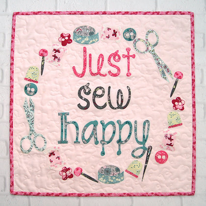 Just Sew Happy Quick Cut Kit Tied with a Ribbon