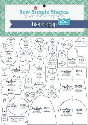 Sew Simple Shapes Lori Holt Template Set bee happy