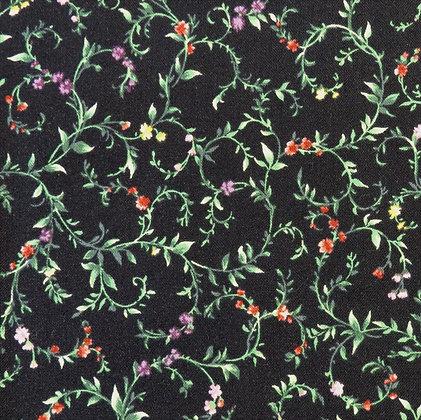 Sentimental Studios Bella 15333-11 Moda Fabric Floral Colourful Black Vines Melbourne Victoria Machine Quilting