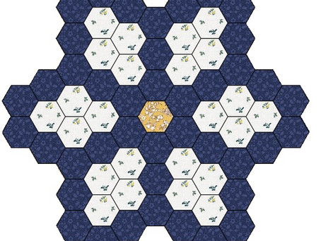 Free Mystery Hexagon Quilt 2021 Part 1