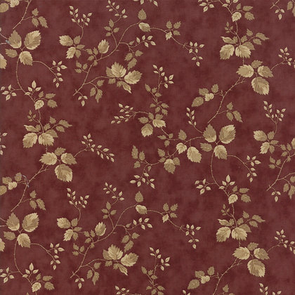 At Home Wild Vine Burgundy Black Bird Design 2792-14 Moda Fabrics
