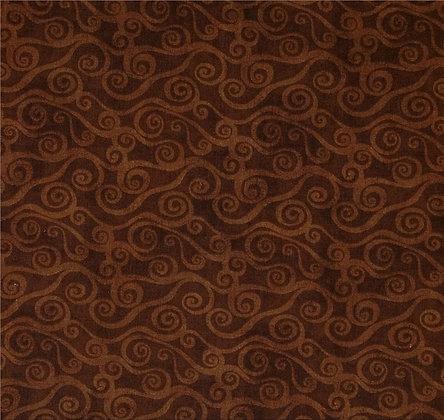 wilmington essentials swirly scroll wide back chocolate