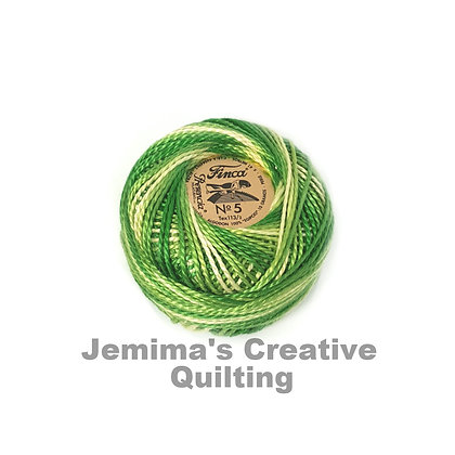 Finca Presencia Perle 5 Thread 9850 Variegated Yellow Green