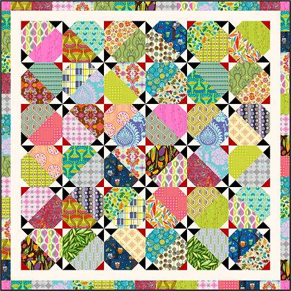 Blossoming Pinwheels Quilt Pattern