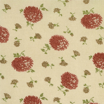 Cotton Blossoms Beige Flowers Bonnie and Camille 55003-24 Moda Fabrics