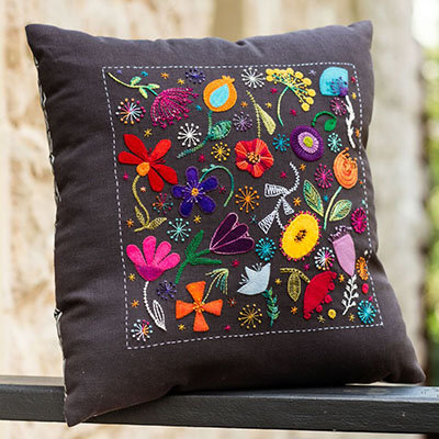 Wendy Williams Scattered Flowers Cushion Pattern