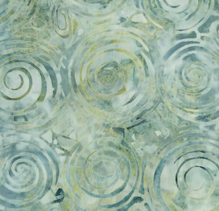 Moda Batik Green Swirls 105-koe Australia Melbourne Fabric