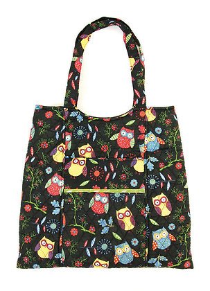 Craft Tote Rustic Ranch Owls