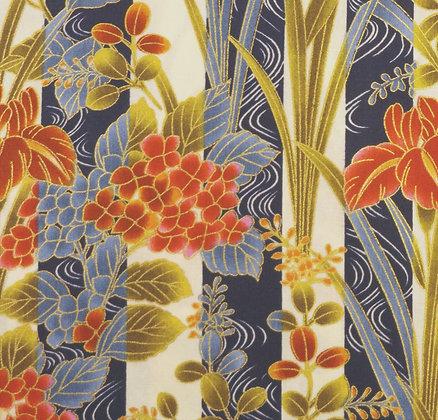 Japanese Floral Garden 1015 Stripe kennard and kennard