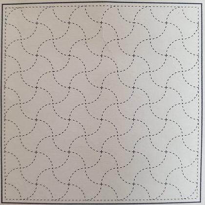 sashiko pre-printed sampler panel