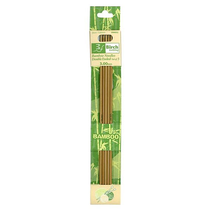 Birch 3mm Bamboo Double Ended Knitting Needles