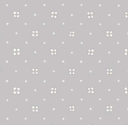 Ella Blue Leanne Beasley Foxglove Garden Grey Fabric 3014GB