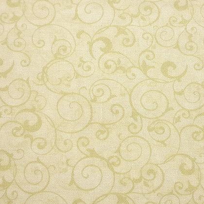 Cream tan swirls wilmington fabrics cynthia coulter poppy celebration 42409-211