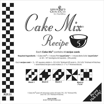 Miss Rosies Cake Mix recipe 5 foundation sheets