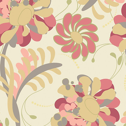 Chic Blooms Lush Blossoms Cream Pat Bravo CB-705 art gallery