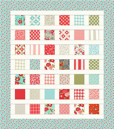 Charming Throw Quilt PDF Pattern