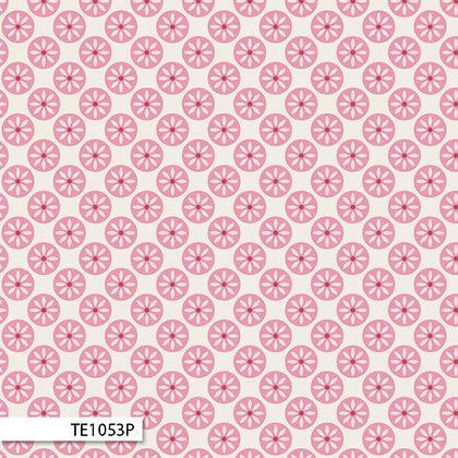 Ella Blue Rosalie Dekker cotton forest daisy spot pink TE1053P