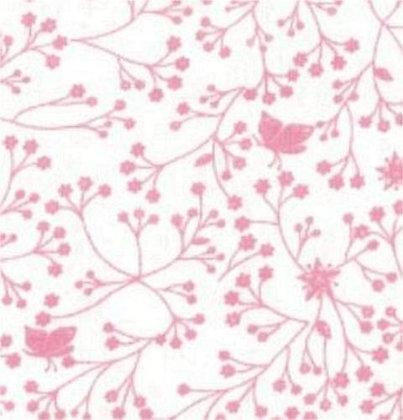 Flutter wide back fabric by SSS pink on white