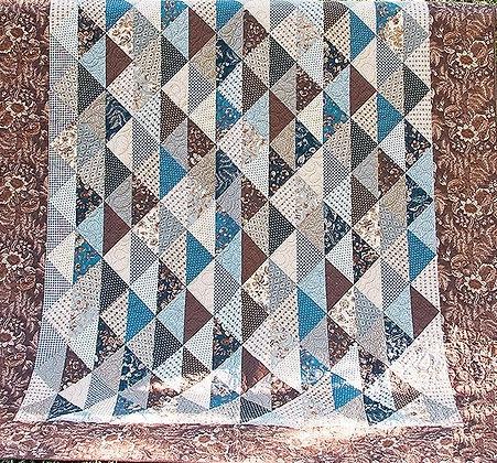Moda Fabrics Eliza's Indigo Quilt Kit Betsy Chutchian