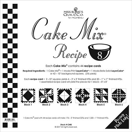 Miss Rosies Cake Mix recipe 8 foundation sheets