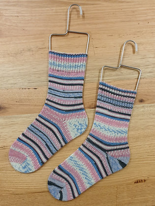 Hand Made Socks Monte Bianco Pink/Blue 502 socks please Socks by shirl