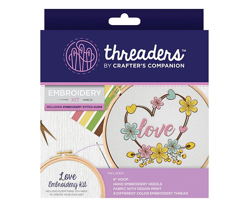 Crafter's Companion Threaders Love Embroidery Kit