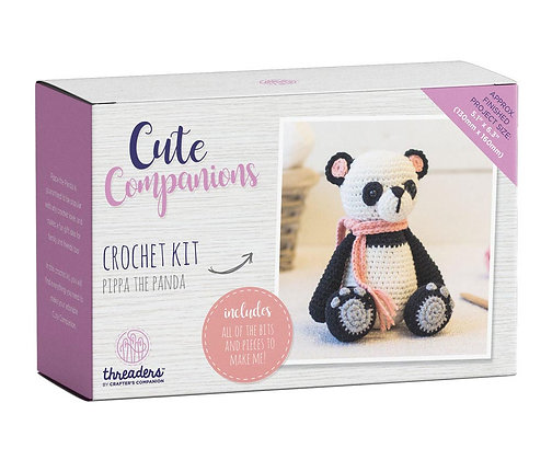 Cute Companions Pippa the Panda Crochet Kit Threaders