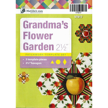 Matilda's Own Grandma's Flower garden Perspex Template Set