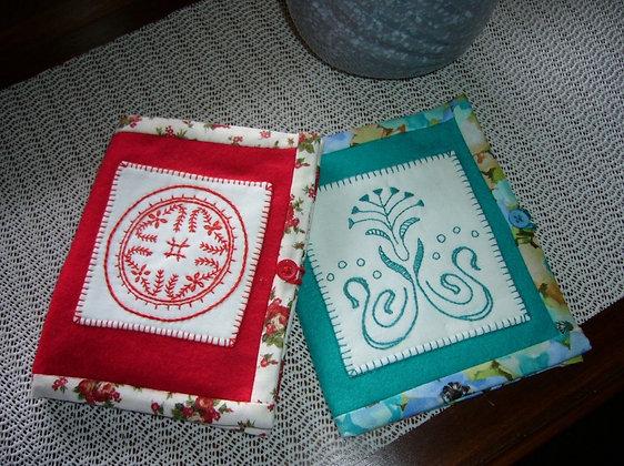 felt embroidery needle case pattern, Melbourne Australia