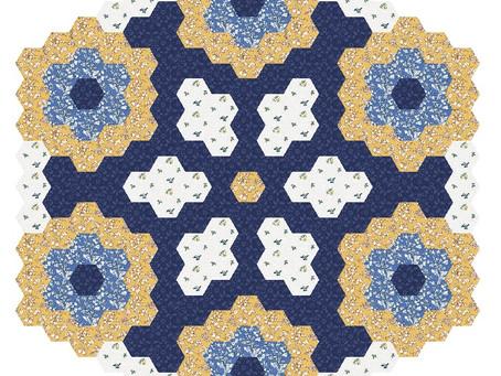 Free Mystery Hexagon Quilt 2021 Part 2