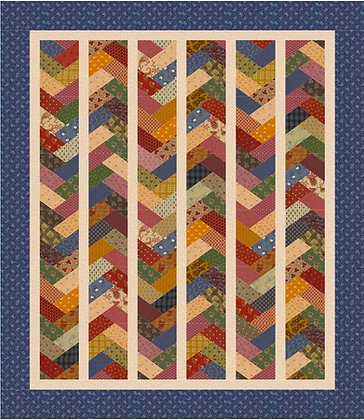 vintage braided quilt pattern jelly roll