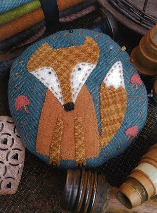 Frankie Fox Pincushion Pattern by Hatched and Patched