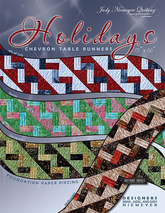 The Holiday's Chevron Table Runner Pattern