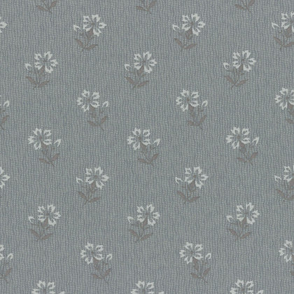 Lecien Fabrics Centenary Collection Grey Flower Yoko Saito 31404-70