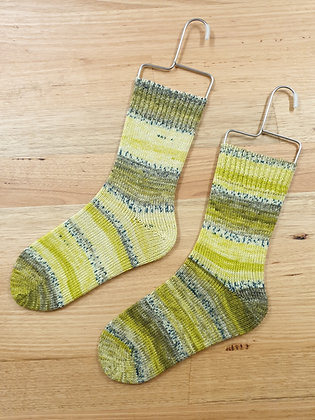 Hand Made Socks Imprim Jaune Socks Please Socks by Shirl
