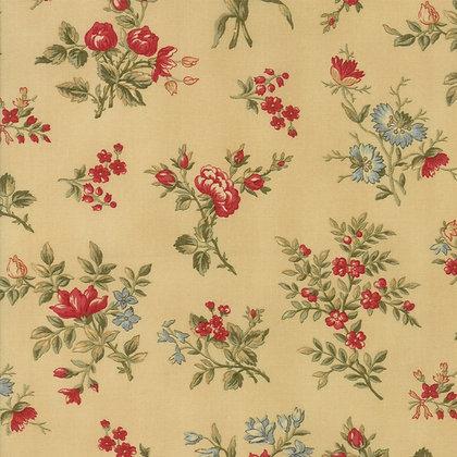 Rosewood 3 Sisters 44184-11 Tan Red Flowers