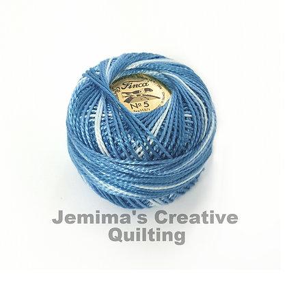 Finca Presencia Perle 5 Thread 9655 Variegated Antique Blue
