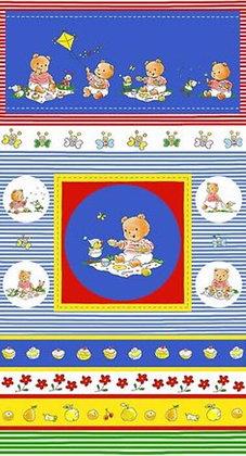 Bobbies Picnic Teddy panel 4503-353 stof fabrics