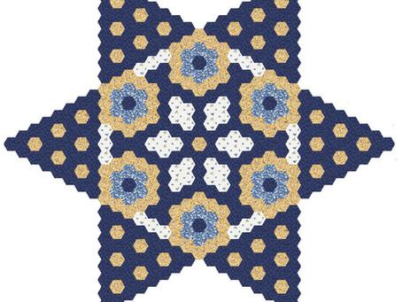 Free Mystery Hexagon Quilt 2021 Part 3