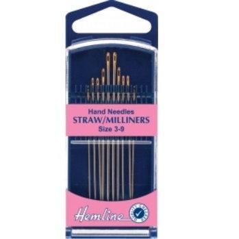 Hemline Hand Straw/Milliners Needles size 3-9